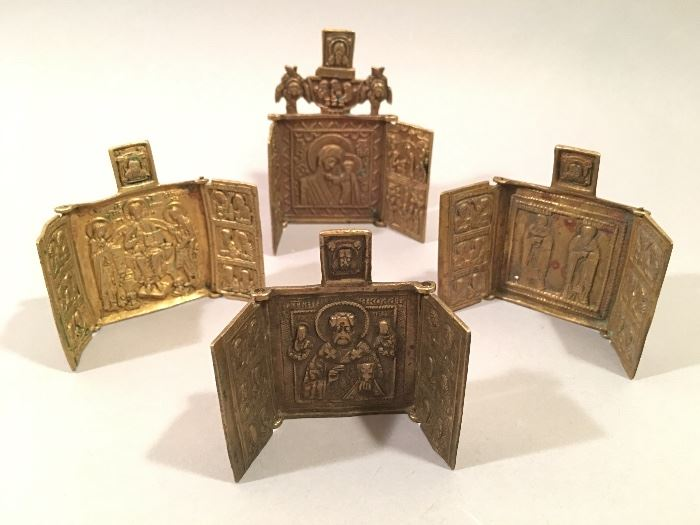 Miniature Folding Russian Orthodox Icons