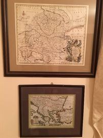 Antique Hand Colored Maps