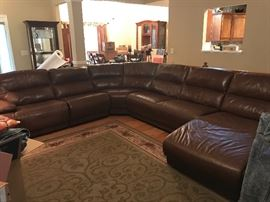 Leather Sectional sofa, excellent condition