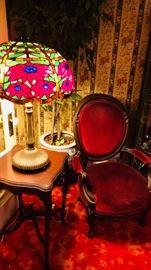Levaton Vintage Lamp - Antique Mahogant Parlor Chair