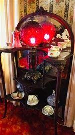 Antique Victorian Parlor Lamp -