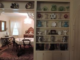 antique porcelain and glass