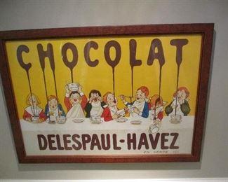 CHOCOLATE DELESPAUL PRINT FRAMED