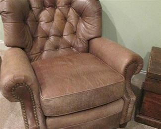 LEATHER CLUB CHAIR RESTERATION HARDWARE