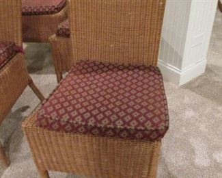 RATTAN DINING CHAIRS (set of 4) ROOM & BOARD (detail)
