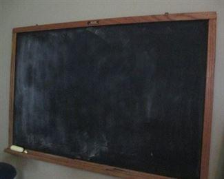 VINTAGE SCHOOL SLATE CHALKBOARD