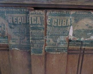EARLY 20TH CENTURY CUBAN CIGAR CABINET (Detail)