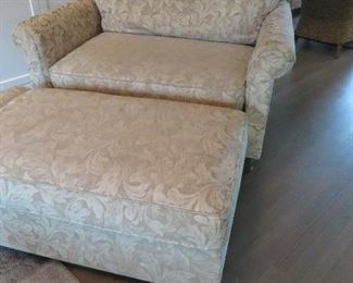 OVERSIZED CLUB CHAIR AND OTTOMAN