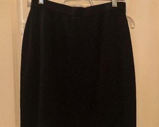 St. John Evening Black Knit Skirt Size 8