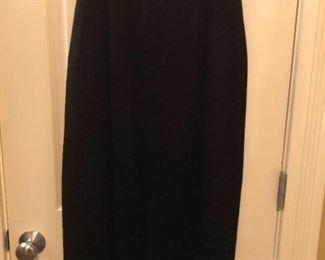 St. John Evening Black Knit Long Skirt Size 6