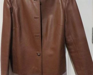 Talbots Brown Leather Jacket  P10