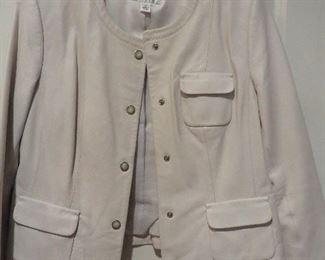 Talbots White Leather Jacket  P12