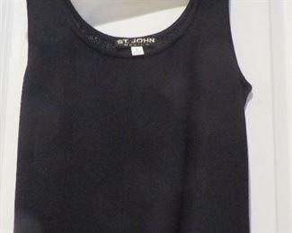 St. John Black Knit Shell Size P