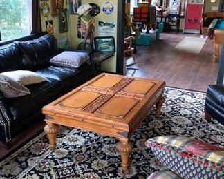 Beautiful wood coffee table.