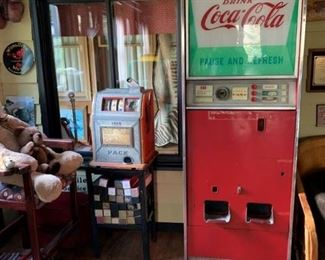 Vintage Coke machine available for pre-sale. Working condition unknown. Text offers to 847-772-0404.