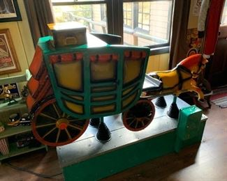 Great restored Coin-Operated stage coach ride. Available for presale. Please text offers to 847-772-0404.