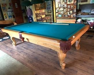 AMF Playmaster Pool table. Available for presale. Text offers to 847-772-0404.