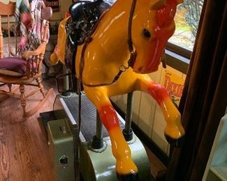 Great restored Coin-Operated horse ride. Available for presale. Please text offers to 847-772-0404.