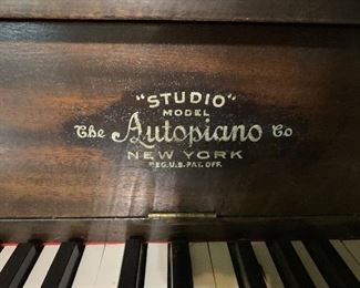 Player Piano with many additional rolls. Available for presale. Text offers to 847-772-0404.