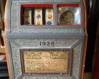 Vintage 1928 Pace Slot Machine.