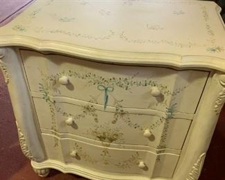 Sweet small hand painted dresser.