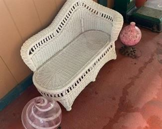 Child's rattan chaise.