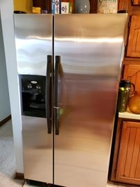 Stainless steel refrigerator. Excellent condition