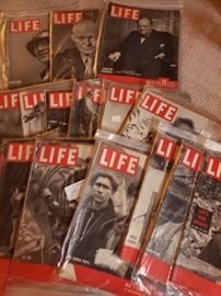 Tons of old life magazines. All in zip bags