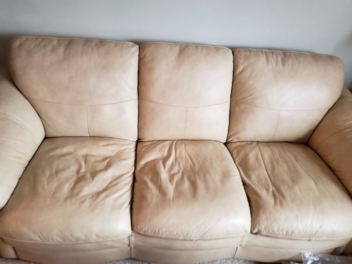 Leather couch. Comfortable, great shape, no tears