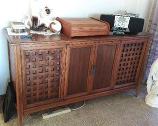 MCM mid-century stereo cabinet