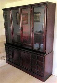WWT054 Cherry Colored China Hutch