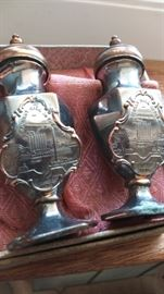 J B Jennings Salt Pepper Shakers Butte Montana Souvenir