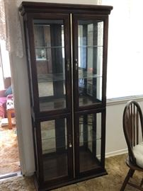 Curio cabinet, dark walnut