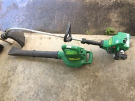 Blower and weed eater