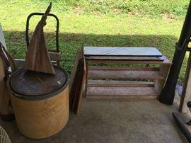shelving, misc wood, cool barrel