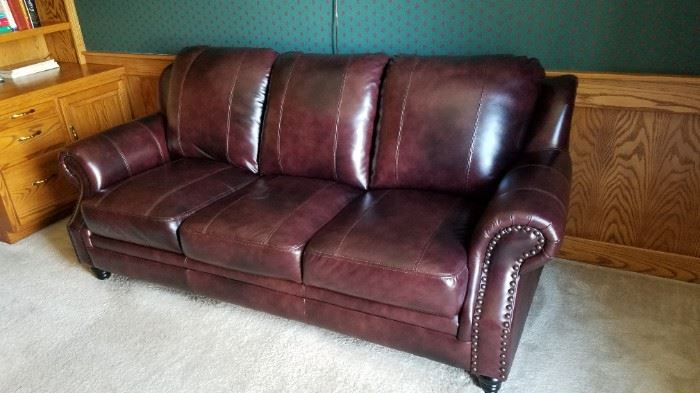 Another leather sofa