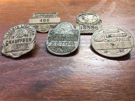 Vintage Chauffeur License Pins https://ctbids.com/#!/description/share/134617