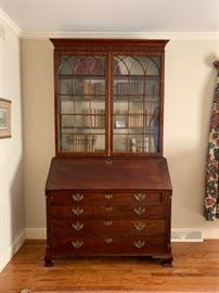 Beautiful Georgian mahogany secretary bookcase