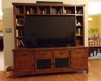 Entertainment wall unit is for sale. TV is NOT for sale.