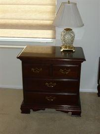 Thomasville Nightstand & Waterford Lamp