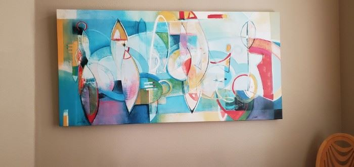 """Janet O'Hear Painting """"Spheres of Enchantment"""" 60""""  $300.00"""