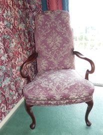 4 Pink floral chairs