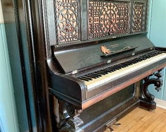 Beautiful A. Reed & Sons Antique Piano