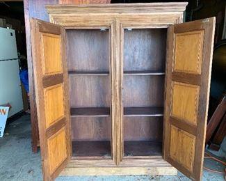 Inside the vintage cabinet