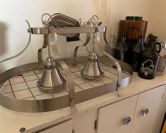 Stainless Pot Hanger Light Chandelier