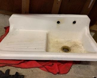 Used porcelain vintage sink