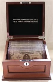 1929 Federal Reserve Notes Complete set