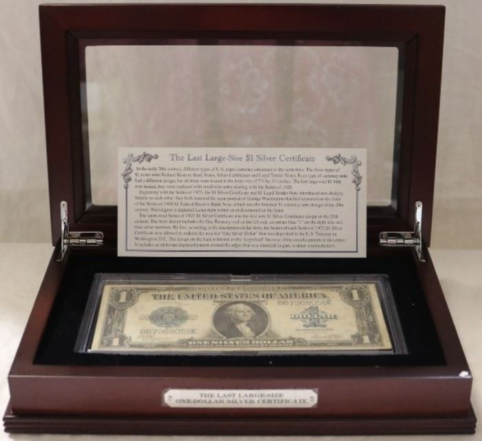 The last large size one dollar silver certificate