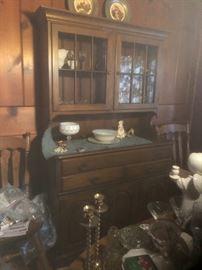 vintage step-back cupboard