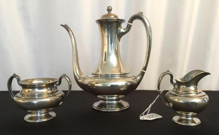 Galt and Brother Sterling Silver Chocolate Tea set